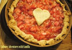 Honey-Kissed Rhubarb Pie