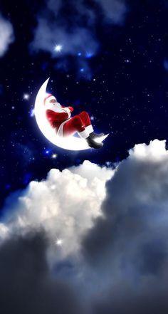 Christmas Scenes, Christmas Movies, Christmas Art, Vintage Christmas, Christmas Stuff, Santa Claus Wallpaper, Santa Paintings, Merry Christmas Pictures, Holiday Day