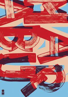 """marabu gmbh & kokg"" by eva-maria offermann / germany, 2012 / silkscreen, 594 x 841 mm, 50 exemplars. printer: eichner&rombold gmbh"