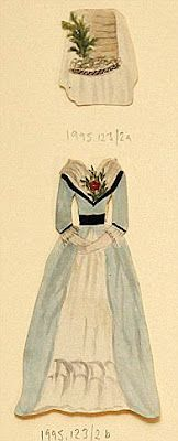 (1 of 3) These cut out paper doll dresses were made by 14 year-old Harriet Johnson in 1787, based on Queen Charlotte's outfits. Queen Charlotte of Mecklenburg-Strelitz (19 May 1744 – 17 November 1818) was the Queen consort of King George III