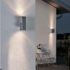 LED Wandleuchte DOM Außenleuchte, 2-Flammig, Aluminium, GU10-230V, (Form:A4)