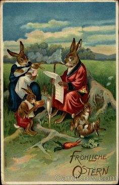 Easter bunny family With Bunnies