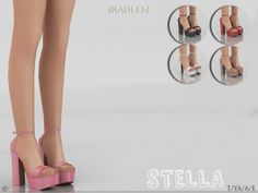 Stella Shoes for The Sims 4