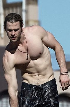 Chris Hemsworth-with the things that make smart girls go STUPID...