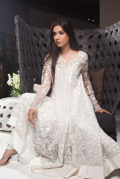 Gorgeous lace anarkali