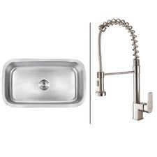 "31.5"" x 18.25"" Kitchen Sink with Faucet"