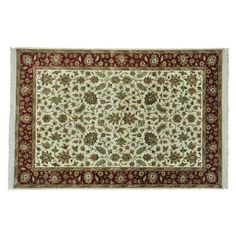 awesome Rajasthan Thick and Plush Hand Knotted Oriental Rug (6'1 x 9'2)
