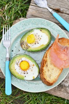 """With no sodium or added ingredients, nosh on this high-protein snack to stay satisfied for less than 200 calories. """"The combination of choline in the egg yolk and fiber from the avocado, both of which aid in weight loss, is ideal,"""" says Shapiro."""