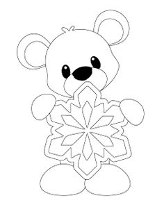 Little Scraps of Heaven Designs: This week's free Digi Bear with Snowflake