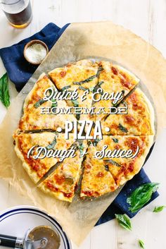 How to make the BEST homemade whole wheat pizza. Including a super easy homemade pizza sauce recipe!