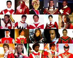 All the Red Power Rangers