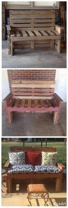 Pallet bench....fun project!!!!