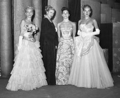 1940s Formal Dresses, Prom Dresses, Cocktail Dresses History. Princess Ballgowns- 1940s dresses inspired by Victorian Ballgowns #1940sfahsion #prom