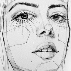 baf5743d111e3b8736e1d1391317c508--creative-portrait-drawing-ana-santos-illustrations.jpg (736×736)