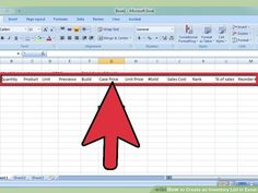 Create An Inventory List In Excel
