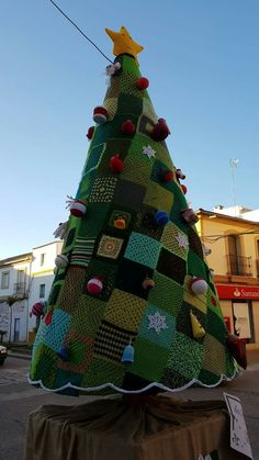 Crocheted Christmas tree.