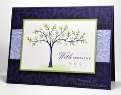 Stampin Up Thoughts & Prayers Sympathy card - how elegant is this?