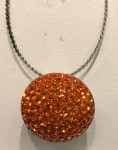 Pumpkin Candy interchangeable Xpression on small pendant base