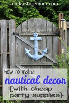 Nautical Decor from Cheap Party Supplies - AHOY! Give your next party a nautical theme with this cheap decor craft idea. Nautical Bedroom, Nautical Home, Dollar Store Crafts, Dollar Stores, Summer Decoration, Pool Decorations, Cheap Party Supplies, Deco Marine, Nautical Party