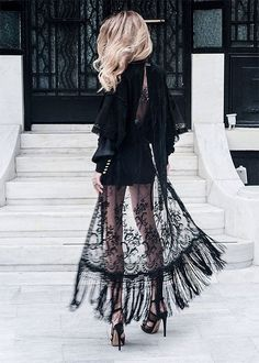 black sheer lace dre