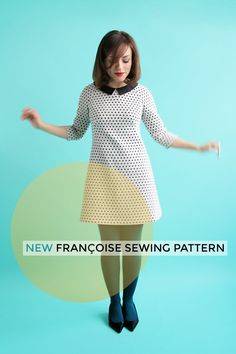 Retro dress sewing pattern: Françoise