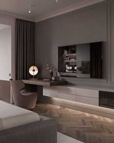 ✔ 60 warm and cozy master bedroom decorating ideas that you need to copy right. - ✔ 60 warm and cozy master bedroom decorating ideas that you need to copy right now 39 - - Luxury Bedroom Design, Modern Master Bedroom, Tv In Bedroom, Master Bedroom Design, Minimalist Bedroom, Home Interior Design, Bedroom Decor, Bed Room, Master Suite