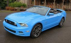 Light blue mustang convertible