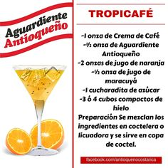 ¡Aguardiente Antioqueño combina con todo! #Aguardiente #Antioqueño #Coctel #Cocktail #Tropicafe Cocktail Drinks, Cocktail Recipes, Alcoholic Drinks, Beverages, Bartender, Tequila, Martini, Cheers, Party Time