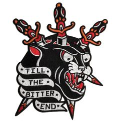 Few and Far Collective Embroidered 'Till The Bitter End' Patch. High quality embroidered patch, ready to be ironed onto whatever the hell you like! #fewandfarcollective