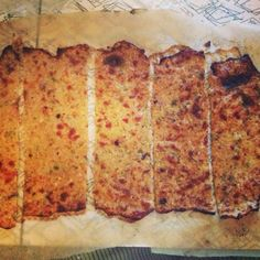 low carb flat bread made with cauliflower, cheese and some other ingredients.  Looks like one to try!