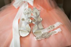Bridal Shoes and Garters   Sherri J Photography   TheKnot.com