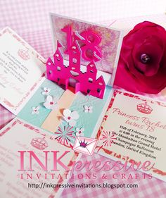 17 best debutante invitation cards images on pinterest inkpressive invitations dream castle exploding box for 18th birthday stopboris Image collections
