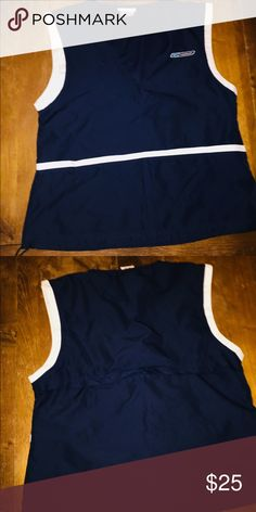 31d31a3a48e0e Vintage Reebok jogger vest with pockets in front Great condition zipper in  back Vintage Tops Tank Tops