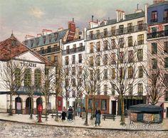 Maurice Utrillo La Place Dancourt oil painting reproductions for sale