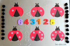 An Invitation to Play a Magnetic Ladybug Counting Game from Twodaloo at B-InspiredMama.com