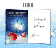 ekortet.dk leverer danmarks flotteste elektroniske julekort til virksomheder.  På billedet: Julekort med logo. Sne, juletræskugler og stjernekastere, Ekort, e-kort, e-julekort, ejulekort, elektroniske julekort, ecard, e-card, firmajulekort, firma julekort, erhvervsjulekort, julekort til erhverv, julekort med logo, velgørenhedsjulekort, julekort