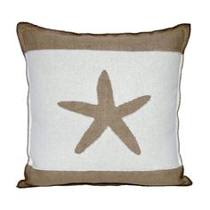 Hey, I found this really awesome Etsy listing at https://www.etsy.com/listing/160331972/largo-starfish-pillow-cover-burlap-and