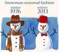 illustration of doctor who snowmen