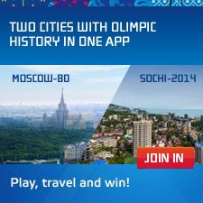 """Sochi 2014 Guide"" Application -- If you're going to the games, this app (available for iOS, Android, and Windows Phone) is designed to help with venues, transportation, real-time feeds, and more. [Photo is not for this same app, but click-through is to the download page.]"
