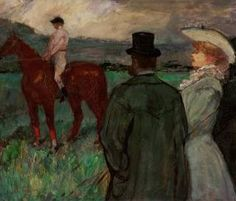 At the Race Tracks - Henri de Toulouse Lautrec