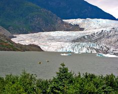 Mendenhall Glacier, Alaska.  Should have left more time to explore this place!  Got here late in the day, so we only had an hour or so.   The Blue Bus will get you here on a budget!