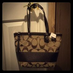 """New with tags coach handbag New with tags. Measures in inches: width/height/depth: 13.5/10/4.5"""" Coach Bags"""