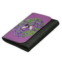 Purple_Lavender_Butterfly,_Leather_Wallet. Women's Wallet