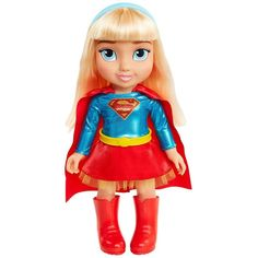 The DC Universe includes the most famous collection of superheroes and villains. Meet DC Comics favorite female heroes who are full of girl power and epic action! Toddler Dolls, Toddler Girl, Supergirl Dc, Barbie Sisters, Dc Super Hero Girls, Cute Cartoon Girl, Baby Alive, Barbie Accessories, Kids Store