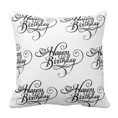 Happy Birthday Collection 1 Throw Pillow - home gifts ideas decor special unique custom individual customized individualized