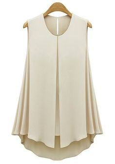 Solid Color Casual Scoop Neck Front Slit Sleeveless Blouse For Women blue apricot (Solid Color Casual Scoop Neck Front Slit Sleeveless Blou) by http://www.irockbags.com/solid-color-casual-scoop-neck-front-slit-sleeveless-blouse-for-women-blue-apricot