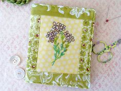 Violet Bouquet Needlebook Hand Embroidery Pin by countrygarden