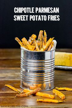 These Chipotle Parmesan Baked Sweet Potato Fries are a delicious and fun side dish for any meal!