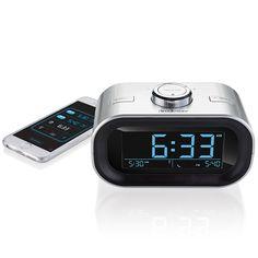 TimeSmart App-Controlled Bluetooth Alarm Clock by Elliot Cohen for Brookstone Radio Alarm Clock, Digital Alarm Clock, Industrial Design Portfolio, Projection Alarm Clock, My Shopping List, App Control, Power Outage, Cell Phone Covers, Bluetooth