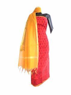 http://www.giftpiper.com/Chanderi-Hand-Blockprint-Kurta-Dupatta-Set-Red-Yellow-id-1755369.html
